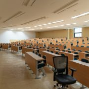 Empty college classroom- student research foundation